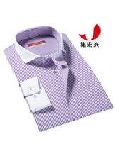 男士紫色条纹衬衫定制