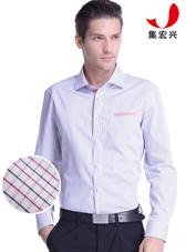 男士红黄黑小格子商务衬衫定制