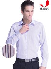 男士红蓝条纹商务衬衫定制