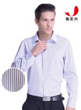 男士条纹商务衬衫定制
