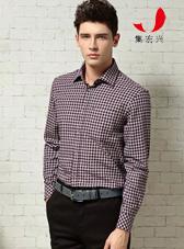 法兰绒褐色小格子衬衫