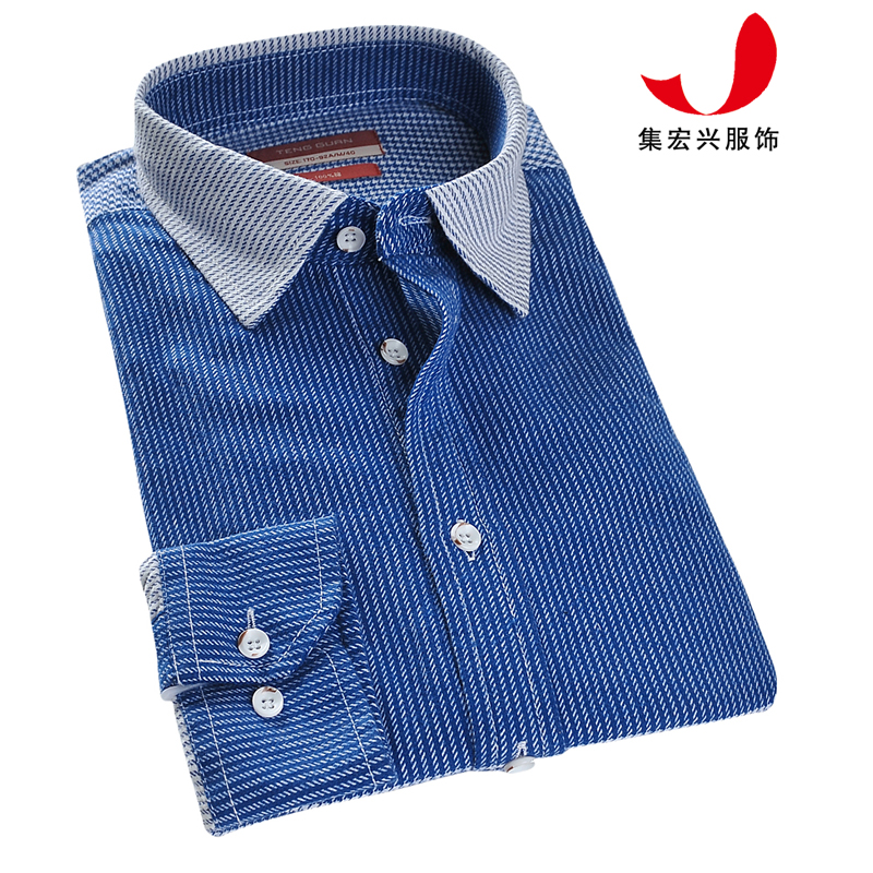 休闲衬衫定制-QM06012